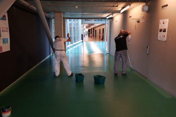 Strakke vloer in het Educatorium dankzij schildersbedrijf Van Doorn
