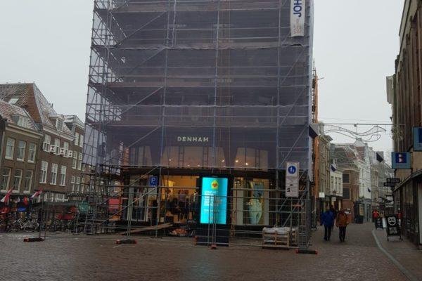steigers van Doorn op de Choorstraat zijn geplaatst.
