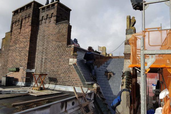 werk op grote hoogte Choorstraat Utrecht