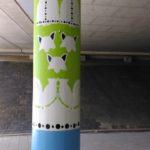 Viaduct Maartensdijk voorzien van decoratieschilderwerk naar een ontwerp van Eline Janssen