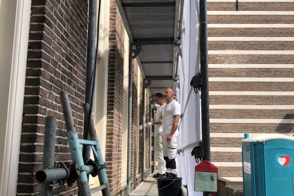 Utrecht Paushuize, schilders van Joh. van Doorn De Bilt BV actief met buitenschilderwerk