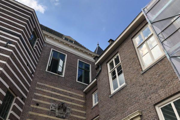 Utrecht Paushuize, achterzijde schilderwerk Van Doorn