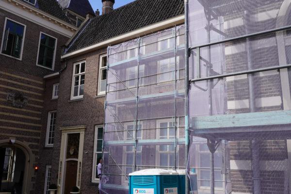 Utrecht Paushuize, schilderwerk achterzijde binnnplaats door Van Doorn De Bilt BV