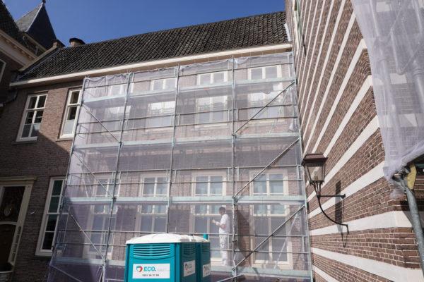 Utrecht Paushuize, steiger achterzijde voor schilderwerk Van Doorn